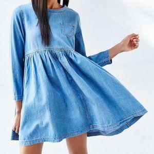 BDG Blue Jean Babydoll Dress (NWT)